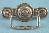 PAIR nickel plated brass drawer pulls, circa 1900