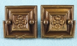 PAIR brass drawer pulls, circa 1920s