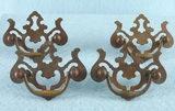 SET OF 4 brass drawer pulls, circa 1930s
