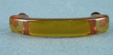 SET of 10 amber colored plastic drawer handles, circa 1940s