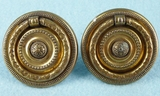 PAIR brass plated drawer pulls, circa 1930s