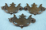 SET of 8 brass plated drawer pulls, circa 1930s
