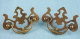 PAIR brass drawer pulls, circa 1930s