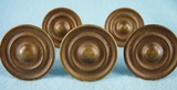 SET of 5 brass knobs (1122)