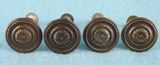 SET of 4 brass plated knobs (760)