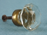 Single cut glass knob (8145)