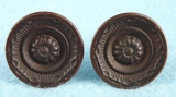 PAIR brass plated knobs (1140)