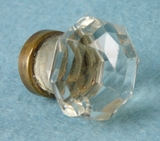 Single cut glass knob (8147)