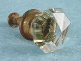 PAIR cut glass knobs (456)