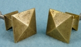 PAIR pyramid brass pulls (1218)