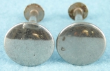 PAIR nickel plated brass knobs (1141)