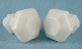 White glass screw-in knob (2 available) (1152)