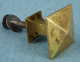Single brass pyramid knob (1164)