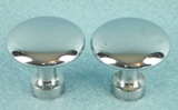 Chrome plated brass knob (32 available) (1222)