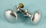 SET of 4 chrome plated steel knobs (1238)