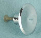 Single chrome plated steel knob (1244)