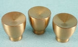 Gold colored aluminum knob (3 available) (1240)