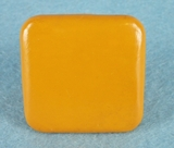 Orange painted wooden knob (15 available) (1297)