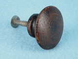 Round oak knob (4 available) (1381)