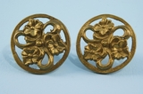 PAIR cast brass knobs <NOBR>(ca. 1910)</NOBR>