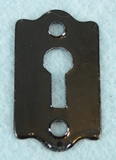 Black painted steel keyhole cover (1 available) (1077)