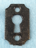 Single cast iron keyhole cover (1080)