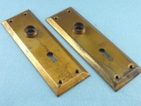 PAIR brass plated back plates <NOBR>(ca. 1920s)</NOBR>