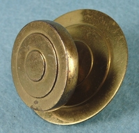 SET of 3 brass knobs (1067)