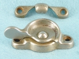 Nickel plated cast iron window latch (10 available) <NOBR>(ca. 1920s)</NOBR>