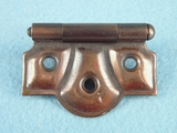 PAIR tiger stripe brass plated steel hinges (1307)