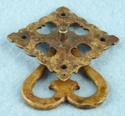 Single brass drawer pull, circa 1910s