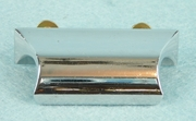 SET of 6 mid-century chrome plated drawer handles, circa 1950s