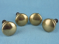 Polished cast brass knob (12 available) (1379)