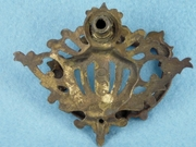 Single cast brass drawer pull, circa 1900