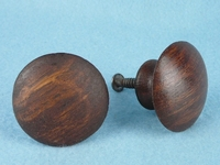 Round oak knob (2 available) (1384)