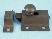 Cast brass cabinet latch set, circa 1910s