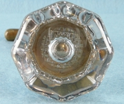 Glass doorknob, closet handle, rosette and keyhole cover <NOBR>(ca. 1910s)</NOBR>