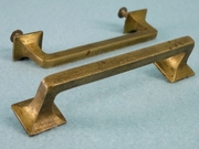 Cast brass drawer handle, circa 1910s (10 available)