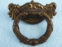 PAIR pressed brass plated drawer pulls, circa 1930s
