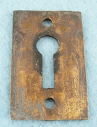 Cast brass keyhole cover (1090)