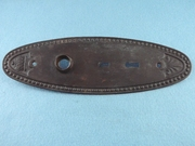 Single black double keyhole back plate <NOBR>(ca. 1900s)</NOBR>