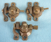 Cast brass window lock (3 available) <NOBR>(ca. 1880s)</NOBR>
