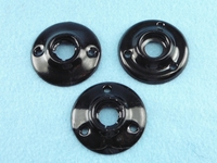 Black painted steel door knob rosette (35 available) <NOBR>(ca. 1920s)</NOBR>