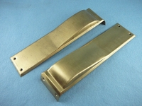 SET brass swing door plate covers <NOBR>(ca. 1920s)</NOBR>