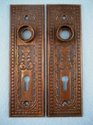 PAIR brass plated back plates (4 pairs available) (circa 1900s)