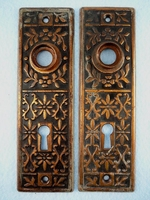PAIR brass plated back plates <NOBR>(ca. 1900s)</NOBR>