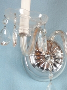 Single cut crystal 2-candle wall sconce <NOBR>(ca. 1930s)</NOBR>