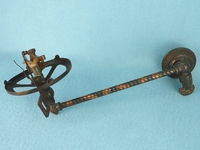 Tiger stripe brass gas wall sconce with electric igniter (4 available) <NOBR>(ca. 1907)</NOBR>