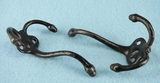 Triple acorn cast iron hook (3 available) (8887)