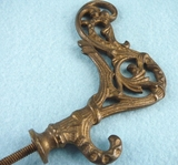 Fancy brass plated cast iron hook (3 available) (1113)
